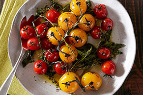 Blistered Tomatoes with Herbs