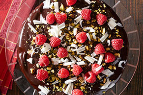 Double Chocolate Raspberry Cake