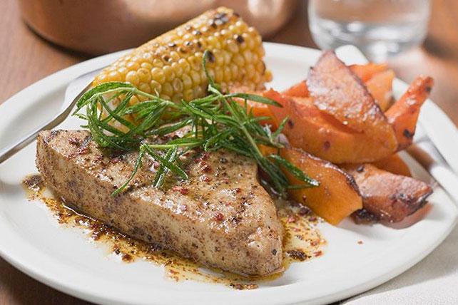 Seared Tuna with Maple-Balsamic Sweet Potatoes Image 1