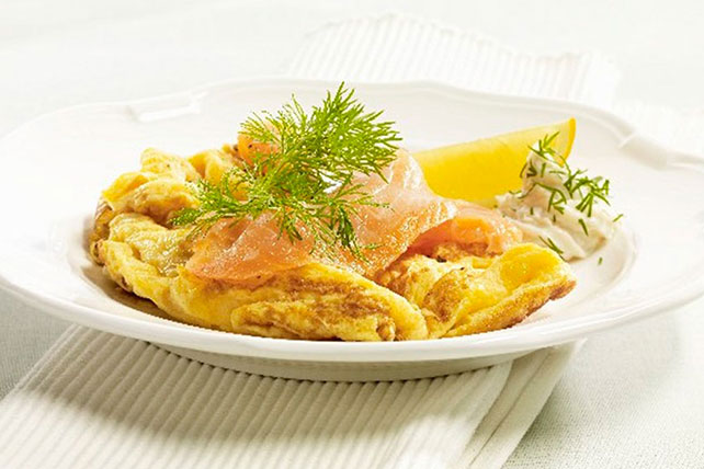 Scrambled Eggs with Smoked Salmon Image 1
