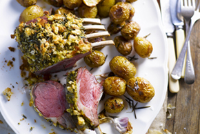 Roasted Rack of Lamb with Rosemary Potatoes