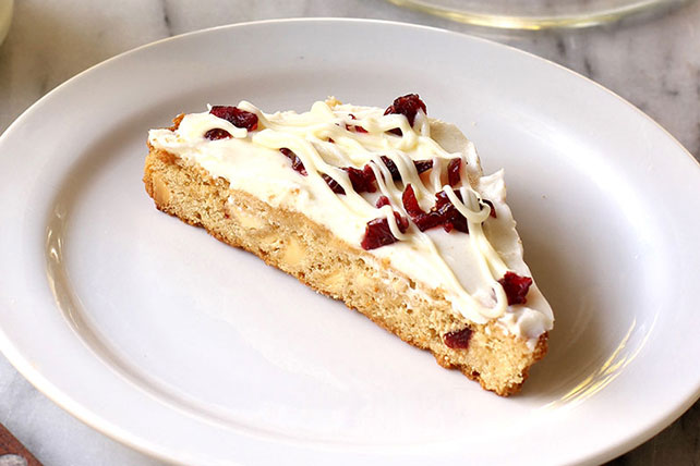 Cranberry Bars With Cream Cheese Topping Image 1