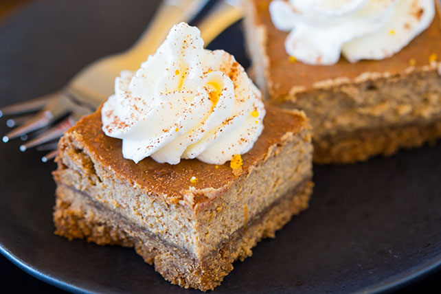 Gingerbread Cheesecake Bars with Orange Whipped Cream Image 1