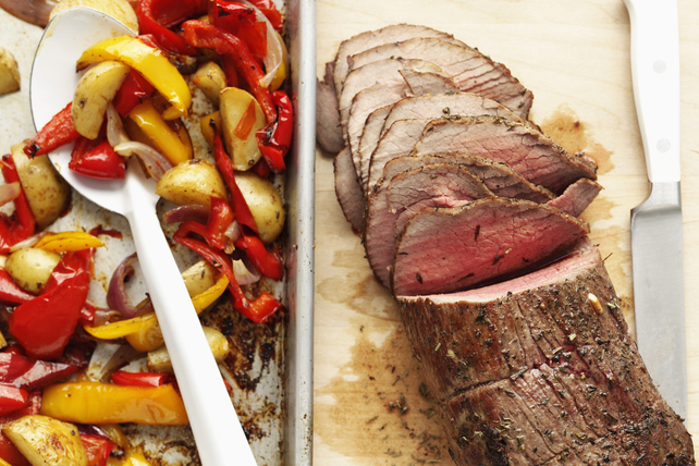 Roast Beef with Potatoes and Peppers Image 1