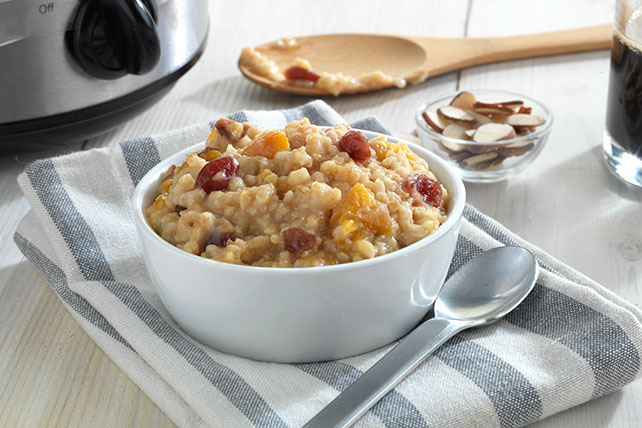 Slow-Cooker Cran-Apricot Oatmeal Image 1