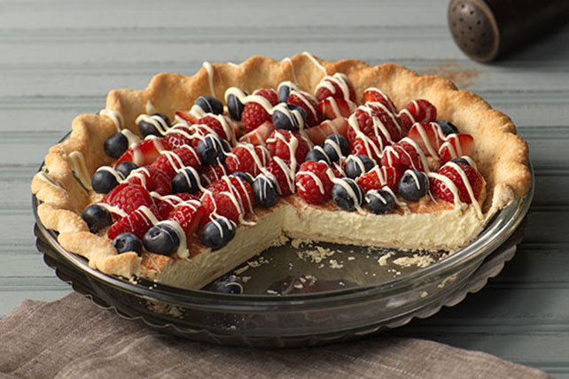 Rustic Berry-Cream Tart Image 1