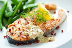 Dijon Mustard Grilled Salmon