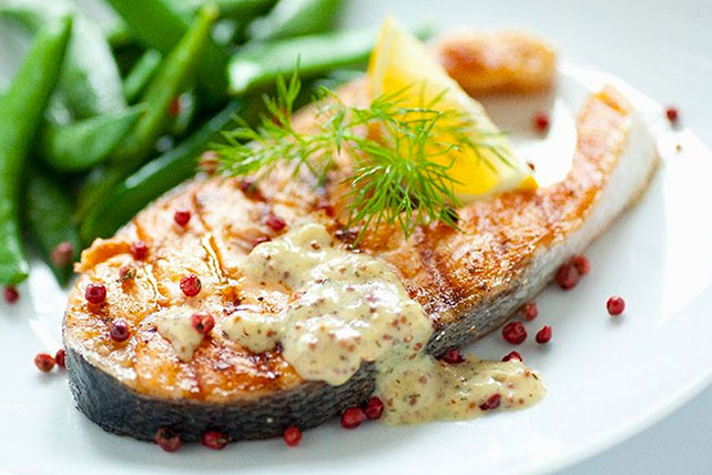 Grilled Salmon with Dijon Mustard