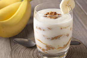Peanut Butter and Banana Yogurt Parfait