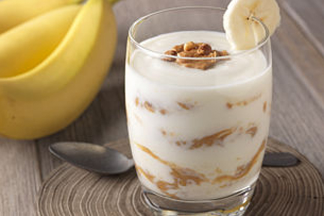 Parfait au yogourt, au beurre d'arachide et à la banane Image 1