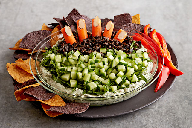 Creepy Halloween Pesto Dip Image 1