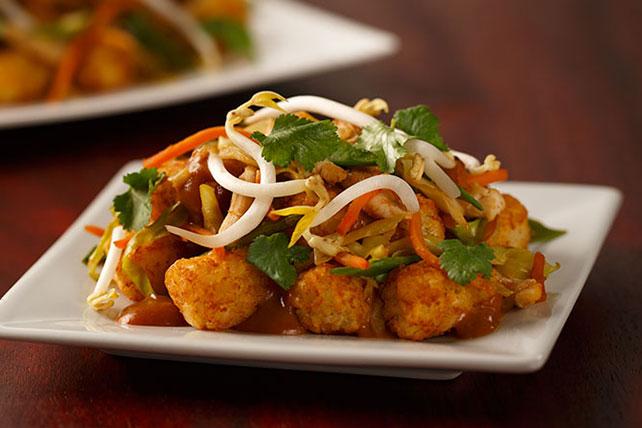 Thai-Style Peanut Chicken Totchos