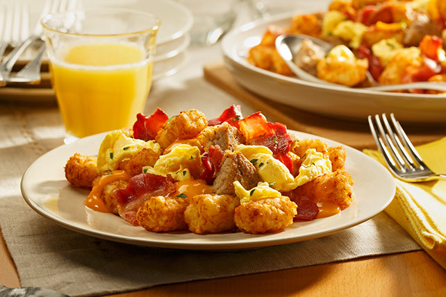 Bacon and Sausage Breakfast-Time Totchos Image 1