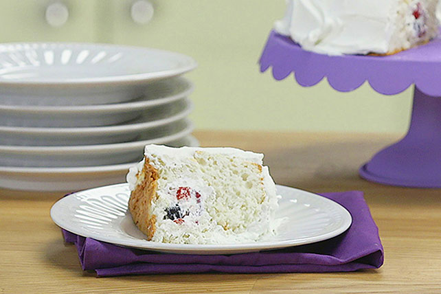 COOL WHIP Angel Food Surprise Cake