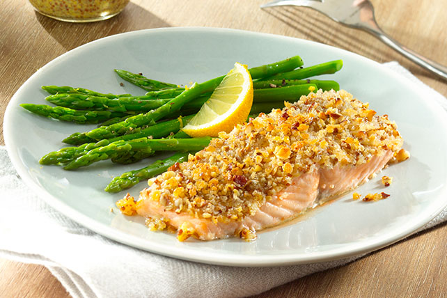 Mustard & Pecan Crusted Salmon