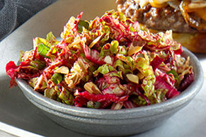 Shredded Beet and Cabbage Slaw