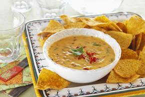 Trempette fromagée au chili pour nachos