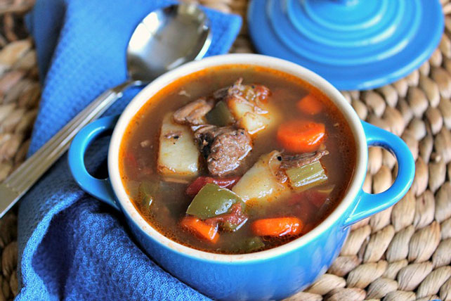Slow Cooker Beef & Potato Vegetable Soup Image 1