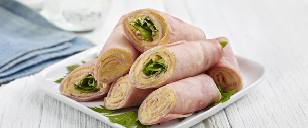 Creamy Cheddar and Ham Roll-Ups