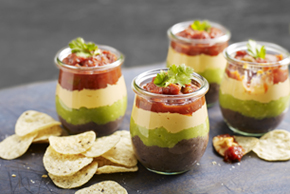 Layered Dip in a Cup