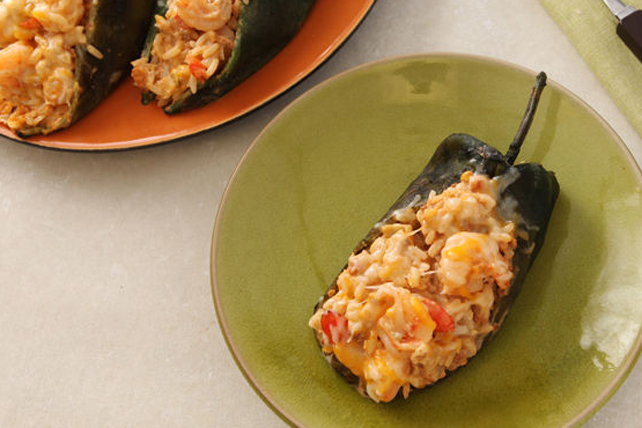 Creamy Shrimp and Chorizo Chiles Rellenos Image 1