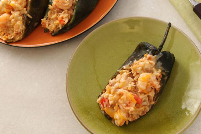 Piments rellenos et farce crémeuse de crevettes et de chorizo Image 1