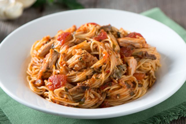 Tuna and Mushroom Spaghettini Toss Image 1