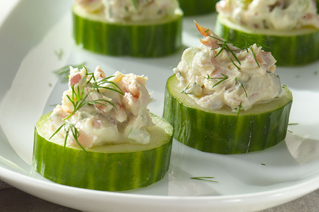 Smoked Salmon & Cucumber Rounds Image 1