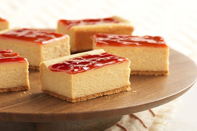 Barres de gâteau au fromage au beurre d'arachide et à la confiture Image 1
