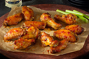 Maple-Dijon Glazed Chicken Wings