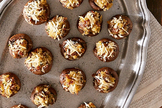 Italian Sausage Stuffed Mushrooms Appetizer Image 1