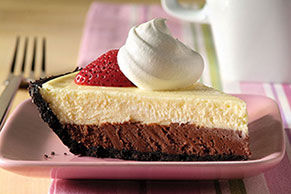 PHILADELPHIA 3-STEP Double-Chocolate Layer Cheesecake