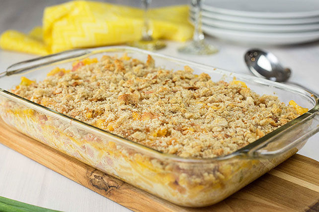 Creamy Mac and Ham Bake Image 1