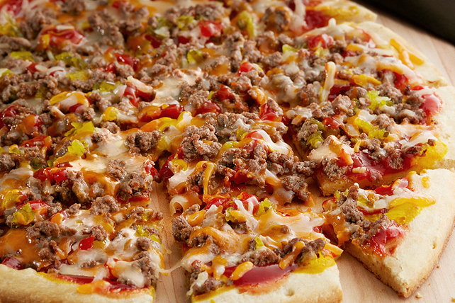 Easy Cheeseburger Pizza Image 1
