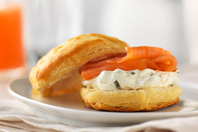 Smoked Salmon and Cream Cheese Biscuits Image 1