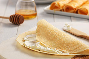 Cream Cheese and Honey Crêpes