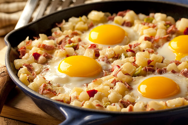 Easy Skillet Corned Beef Hash Recipe Ore Ida