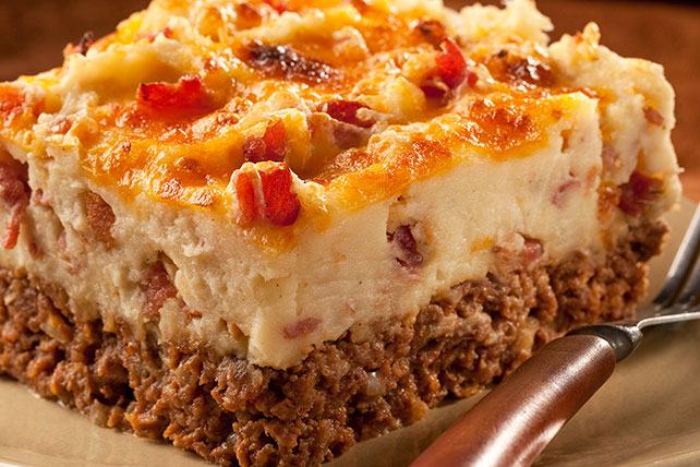 Cowboy Meatloaf and Potato Casserole Image 1