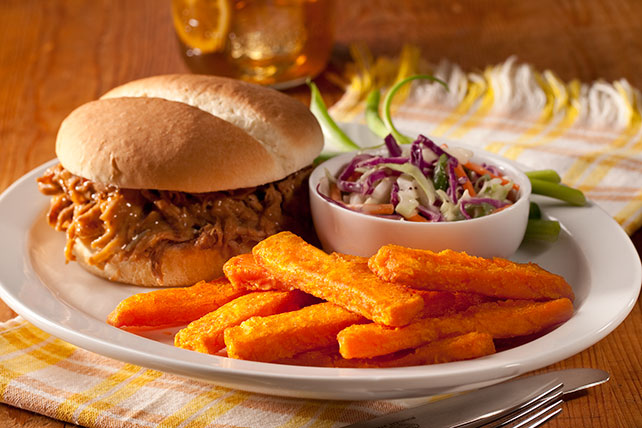 Pulled Pork & Sweet Potato Fries
