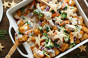 Chicken and TATER TOTS®  Pot Pie