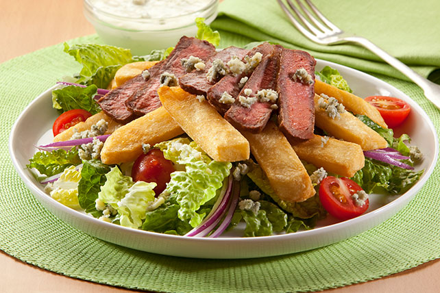 Grilled Steak Salad & Fries Image 1