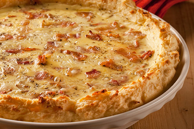 Potato-Crust Tomato-Bacon Quiche Image 1