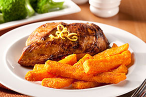 Lemon Chicken & Sweet Potato Fries