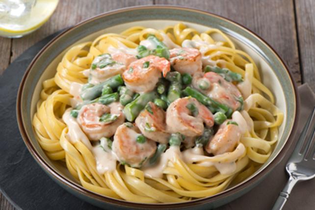 Crevettes et sauce Alfredo et ail rôti Image 1