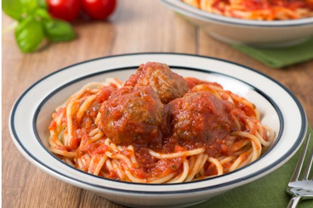 Spaghettis aux boulettes de viande Image 1