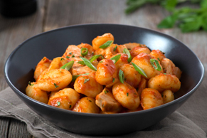 Gnocchi with Chicken and Four Cheese Sauce