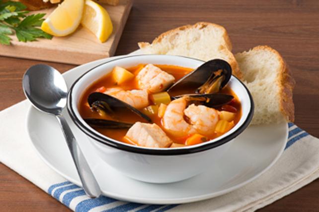 Soupe consistante aux produits de la mer Image 1