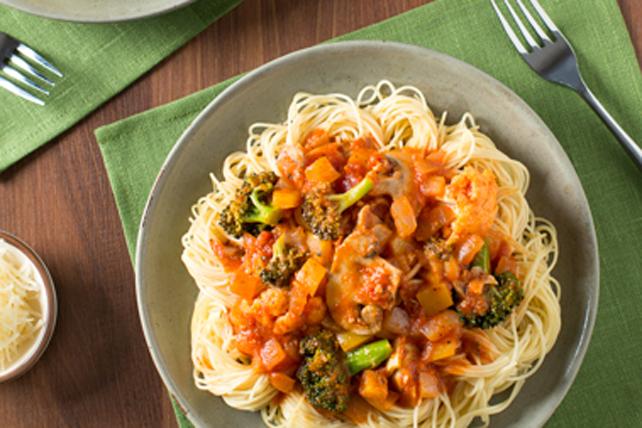 Capellinis aux légumes du marché Image 1