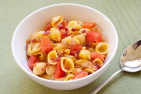 Bacon and Tomato Shells