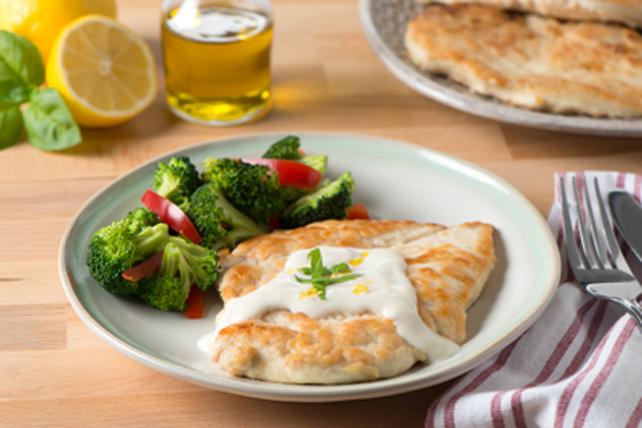 Escalopes de poulet et sauce crémeuse au citron Image 1